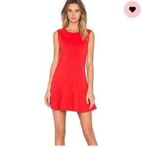bobi lightweight cashmere drop waist dress